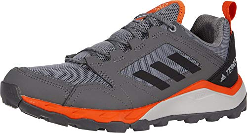 adidas outdoor Men's Terrex Agravic TR Running Shoe, Grey Three/Black/Orange, 14 M US