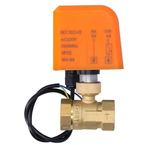 Valvola a sfera motorizzata, valvola elettrica ABS in ottone, valvole elettriche normalmente aperte, 2 fili DN20 6-20 W CA 220 V, acqua calda/fredda.