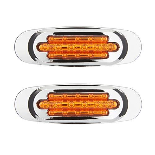 2 luces LED indicadoras laterales laterales para coche, luces de posición de luz lateral, bombillas de señal de giro para 12-24 V auto camión remolque