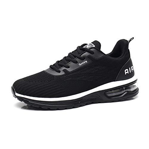 TORISKY Sportschuhe Herren Damen Sneaker Turnschuhe Laufschuhe mit Luftpolster Air Schuhe Leichte(9001-BK36)