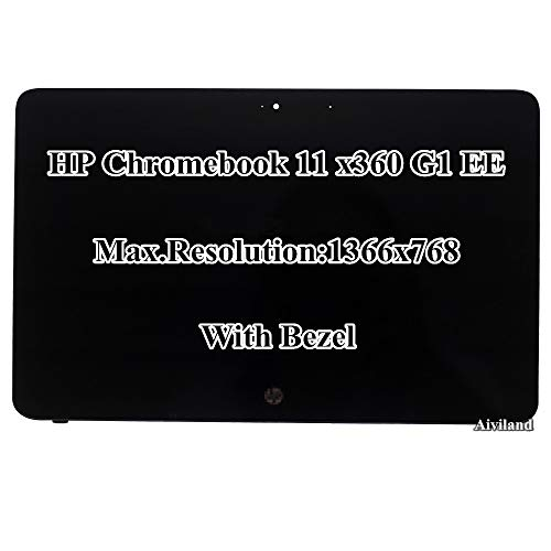 11.6' HD 1366x768 IPS LCD LED Display Touch Screen with Bezel Assembly for HP Chromebook X360 11 G1 EE