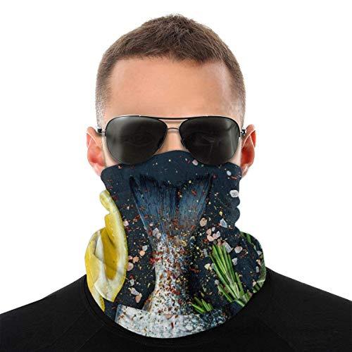 Nother Hermosa máscara colorida de león chino auspicioso máscara facial bandanas máscaras, calentador de cuello medio pasamontañas negro