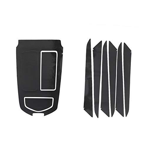 Rumors Etiqueta De Decoración De La Decoración del Cambio De Engranaje Pegatina De Reposabrazos Ajuste para Maserati Ghibli 2014 2015 2016 2017 5D Accesorio De Fibra De Carbono (Color Name : Black)