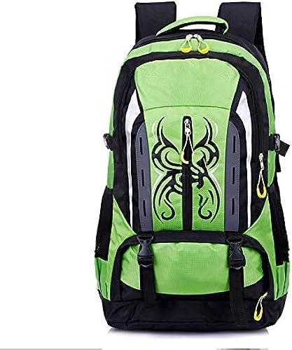 JKLSNMA Chaussures de randonnée 50L Hiking Backpack Rucksack for Men femmes Nylon Waterproof Camping Trekki Traveling Climbing Hunting Outdoor Sports Bag