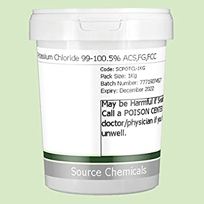 Potassium Chloride 99-100.5% ACS,FG,FCC 1Kg Including Delivery