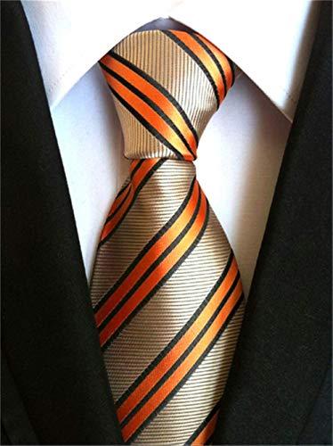 Xjwq - Corbata de Seda, para Hombre, Corbata de Boda, 8 cm, Slim Neckties Mens Necktie 100 años