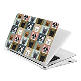 Cute French Bulldog Compatible with MacBook Air 13 Inch Case 2021 A1932 Soft Touch Laptop Case Protective Plastic Hard Shell Case
