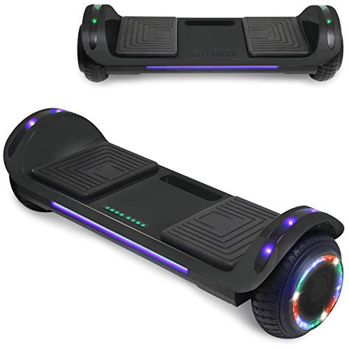 TPS Hoverboard Self Balancing Scooter with Speaker LED...