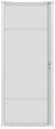 Brisa White Retractable Screen Door 96