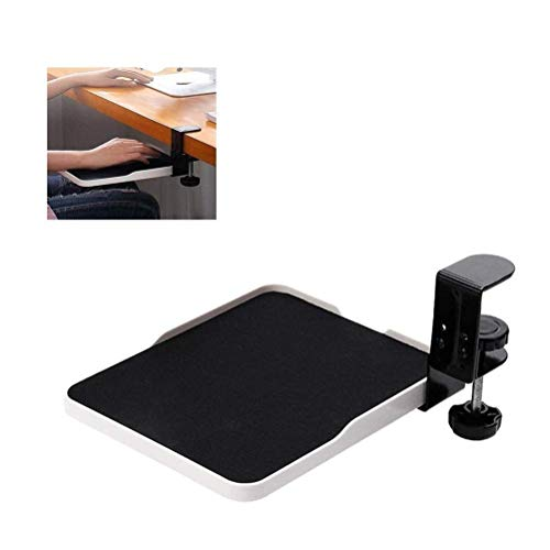 SFSGH Ergonomic Rotating Mouse Pad Platform Under Desk Ergonomic Wrister Mouse Pad Adjustable Computer Pad And Device Holder Extended Rotating Tray for Home and Office