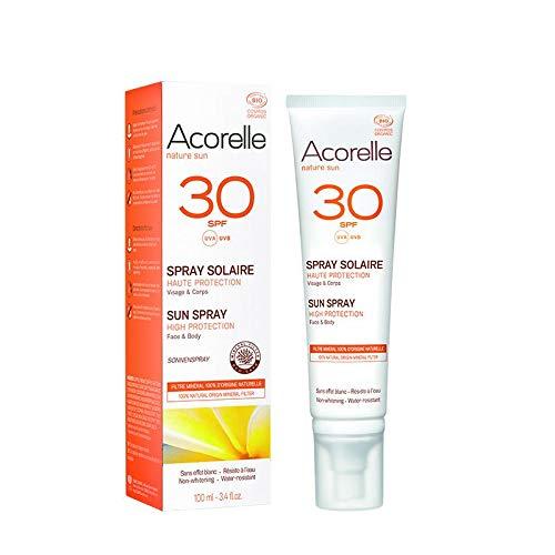 Acorelle Spray Solar Spf30 100 ml; bio 1 Unidad 100 ml