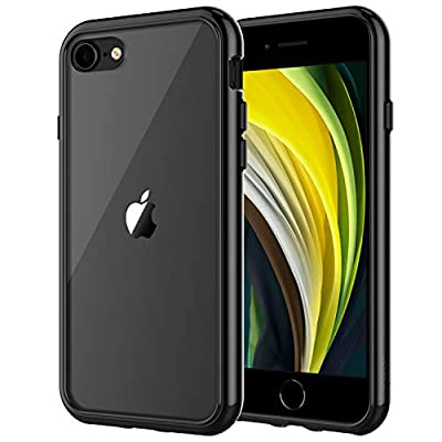 JETech Case for Apple iPhone SE 2nd Generation, iPhone 8 and iPhone 7, 4.7-Inch, Shockproof Bumper Cover, Anti-Scratch Clear Back, Black