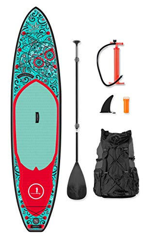 YOLO Board 12' Inflatable Stand Up Paddle Board (6' Thick) Package |...