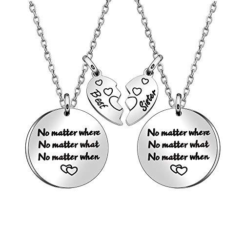 Collar de regalo para hermana unbiológica, hermana, alma, hermana, Navidad, graduación, collar de hermana