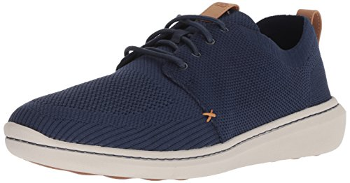 Clarks mens Step Urban Mix Sneaker, Navy Textile Knit, 9.5 US