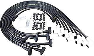 Dragon Fire High Performance Extreme Heat Ceramic HEI Spark Plug Wire Set Compatible Replacement For all Chevy Chevrolet SBC BBC 350 383 400 454 V8 90 to 90 Boots Oem Fit PWJ135