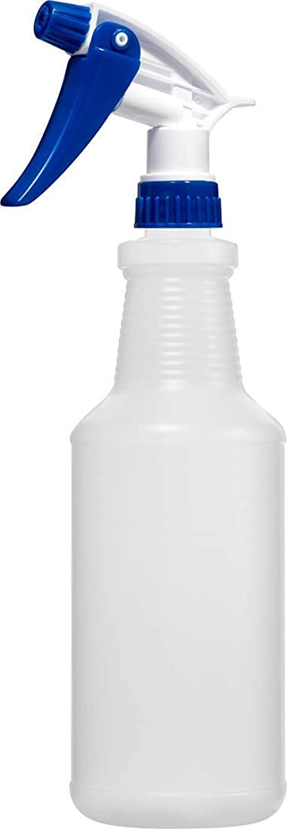 Empty Spray Bottle 32 Ounce, Professional Chemical Resistant with White-Blue Sprayer for Chemical and Cleaning Solution, Heavy Duty, Adjustable Head Sprayer from Fine to Stream
