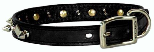 Hamilton 1/2'x 12' Piel de Color Negro con Clavos y diseño de Diamantes Collar de Perro
