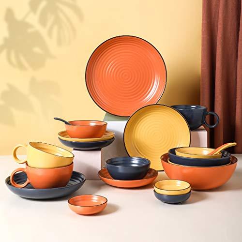 Juegos De Vajillas De Porcelana, 45 piezas, juego de combinación de vajilla de lujo de estilo nórdico para regalos de boda | Juegos de platos y tazones de porcelana,D