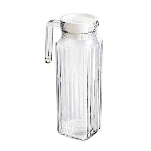 Get Goods - Jarra de cristal para puerta de frigorífico (2 unidades, 1,1 L, 1,1 L)