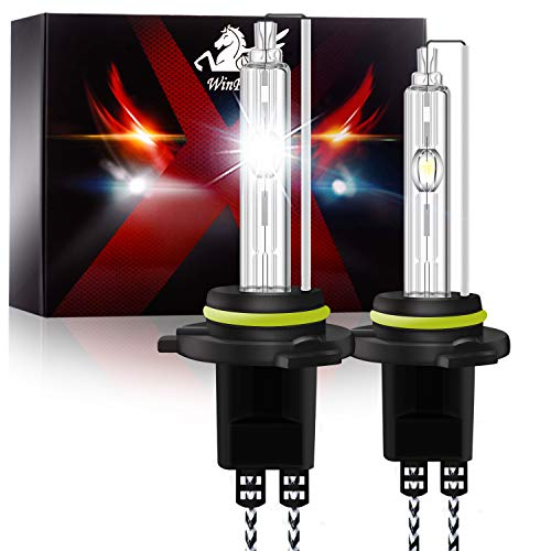 Win Power Hir2 / 9012 Bombillas de xenón 55W HID Lámpara de luz Faros delanteros para automóvil Bombilla de reemplazo 6000K blanco puro, 2 piezas