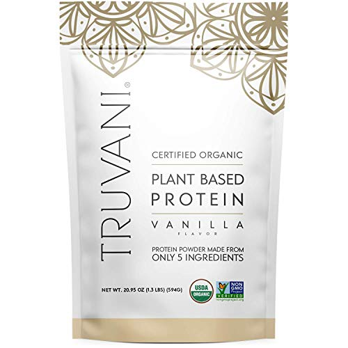 Truvani - Plant Based Protein Powder - Vanilla, Net WT 20.9oz(594 Grams)