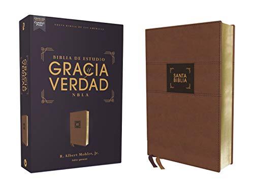 Santa Biblia/ Holy Bible: Nueva Biblia De Las Américas, Estudio Gracia Y Verdad, Leathersoft, Café, Interior a Dos Coloresの詳細を見る