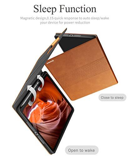 """AUAUA Funda para iPad de 8ª Generación 10.2"""" 2020 / iPad 7ª Generación 2019, con Soporte para lápiz de Apple, Auto Sueño/Estela - Marrón 6"""