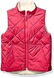 Spotted Zebra Reversible Plush Vest outerwear-jackets, Rosa, marfil, S