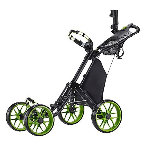 JFF Carro De Golf De 4 Ruedas, Carro De Golf Plegable con...
