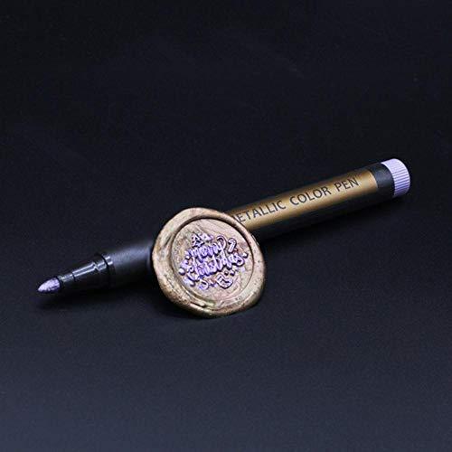 Kerst Metallic Gekleurde Inkt Waterkrijt Pen Voor Lakzegel Stempel Gift Mark Pen Decoratie Lakzegel Metaal Goud Kleur Pen, paars