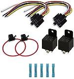RUNCCI-YUN 2 pcs Rele 12v Relé de Coche 5 Pin Terminal SPDT Vehículo Auto...