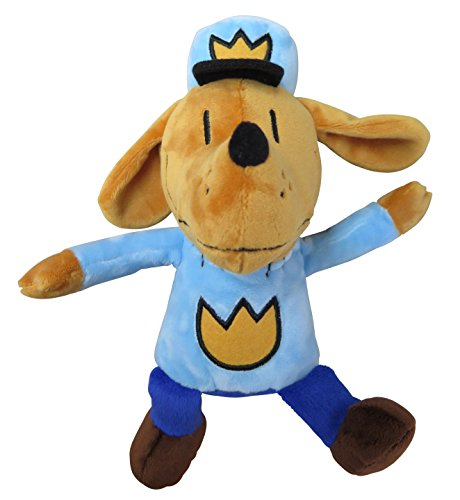 MerryMakers Dog Man Soft Plush Toy, 9.5-Inch, from Dav Pilkey's Dog Man Graphic Novel Book Series
