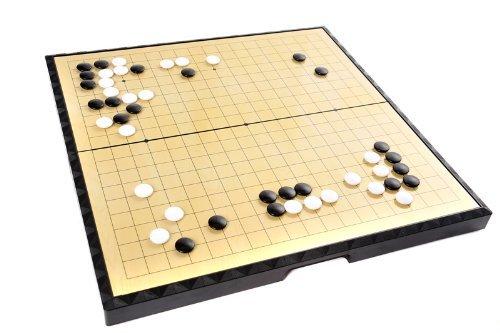 Quantum Abacus Azerus Línea Standard: Go / weiqi clásico, Tablero con Piezas magnéticas (181 Piezas Negras, 180 Blancas), tamaño Grande L del Tablero (37cm x 37cm x 5,5cm), Art. F9