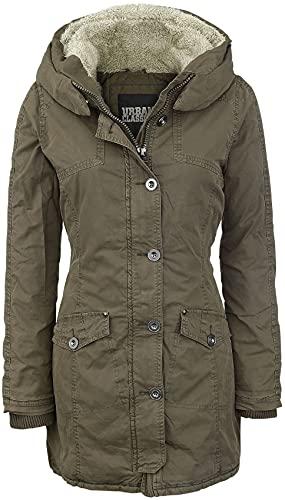 Urban Classics Jacke Garment Washed Long Parka Chaqueta, Verde (Olive), Medium (Talla del Fabricante: Medium) para Mujer