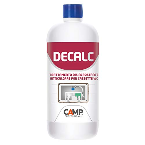Camp DECAL-C, Disincrostante anticalcare professionale per cassette wc da incasso o esterne, Ad alta concentrazione, 1 L