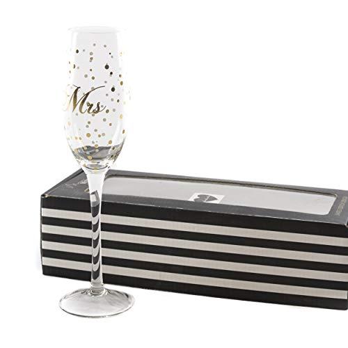 Sektglas Glas Hochzeit Mrs. | knuellermarkt24.de | Miss Misses Hochzeitsdeko Gläser Gold handgemacht Wein Sekt Champagner