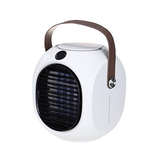 riou Aire Acondicionado Enfriador Personal Portátil, Air Cooler Portatil Ventilador Humidificador Aire Frio, con 3 Niveles, Enfriador Evaporativo Humidificador con Mango