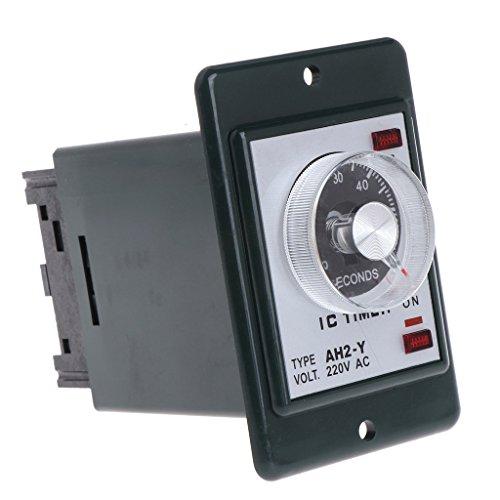 WE-WHLL 0-60 Segundos/Minutos Temporizador de retardo de Encendido Relé de Tiempo con Base de Enchufe CA 220V AH2-Y