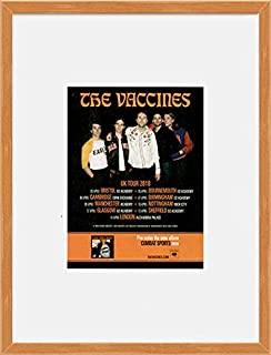 Stick It On Your Wall The Vaccines - UK Tour 2018 (Oak Veneer Frame) Framed Mini Poster - 28.5x23.5cm