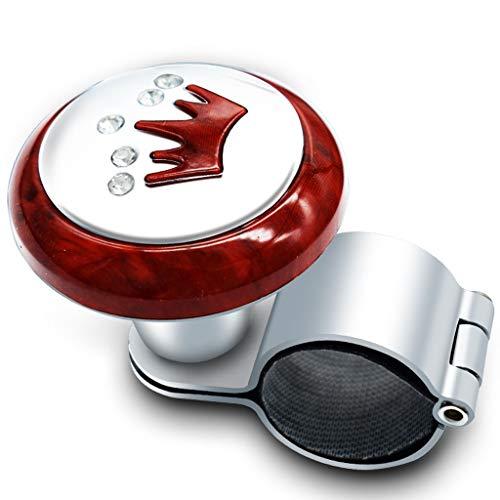 Kays Volant Bouton Spinner Volant Spinner Button, poignée de Volant de Voiture Voiture, Booster Ball, Installation Facile pour véhicule de Voiture (Couleur : E)