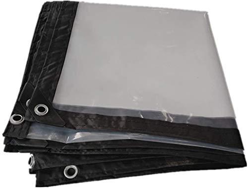 Glass Clear Tarpaulin Transparent Tarpaulin Thickened Waterproof Cloth Waterproof Plastic Plate Window Balcony Crop Tarpaulin Shade Cloth (Color : 3x8m)