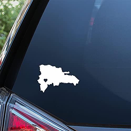 Diuangfoong Pegatina de corazón de República Dominicana para ventana de coche, parachoques o portátil. 293# 8