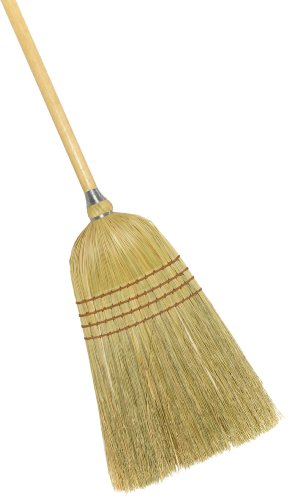 Weiler 44009 54' Length, 1-1/58' Handle Diameter, 4 Sews, Corn Fill, Warehouse Heavy-Duty Upright Broom