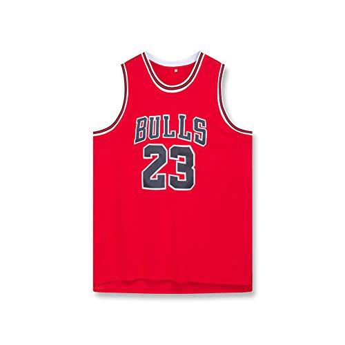 LAZYZ Bulls Jordan #3 ropa de baloncesto para hombre, transpirable ropa de baloncesto, jersey de secado rápido, camiseta bordada (S-2XL), color rojo, tamaño xx-large