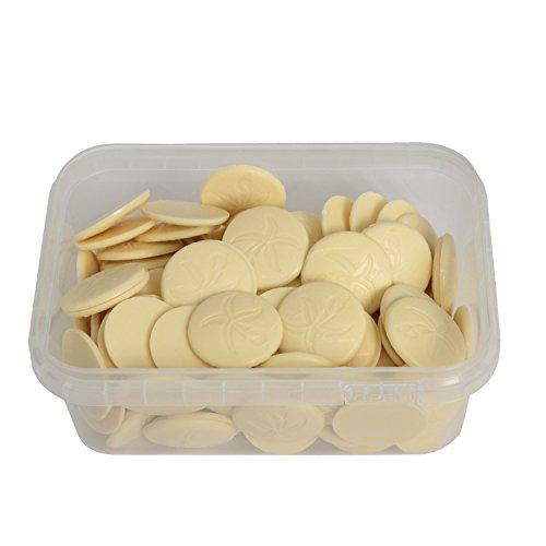 Ovalette Weiße Münzen Schokolade / Schmelzdrop
