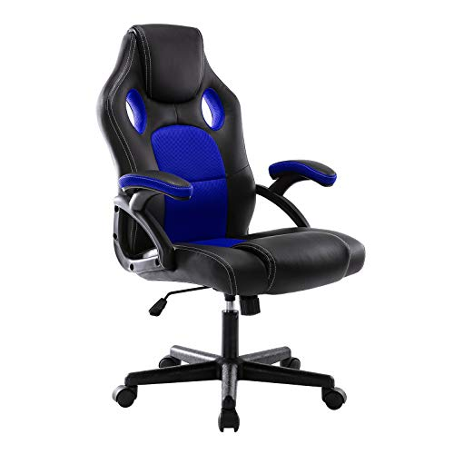 DEER HUNTER Gaming Style Computer Office Desk Chair (Blue)