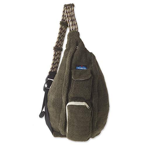 KAVU Rope Fleece Bag Sling Crossbody Sherpa Backpack Travel Purse - Marsh