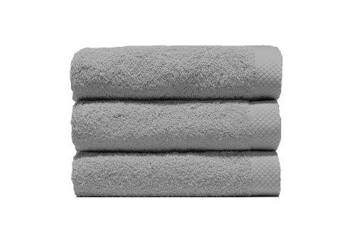 Lasa Juego Toallas, algodón 100%, Plata, Baño (100 x 150 cm), Lavabo y tocador