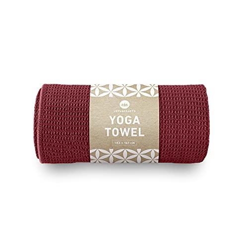 Lotuscrafts yoga handdukar Wet Grip - halksäkra och snabbtorkande - halksäkra yogahanddukar som...